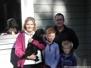 Familjen Larsen med sin lilla Maja