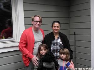 Familjen Björn Karlsson med Sam